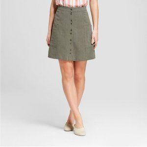 Universal Thread Olive Green A Line Skirt